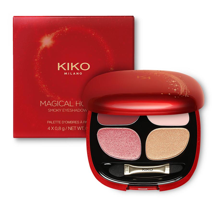 Купить Палитра для глаз, MAGICAL HOLIDAY SMOKY EYESHADOW QUAD, Kiko Milano, 03 Glamorous Tones, KC000000030003B