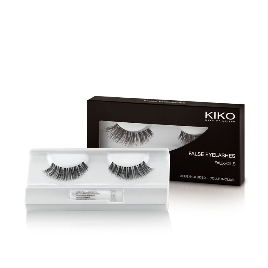 Накладные ресницы, Natural False Eyelashes, Kiko Milano, 01 Natural, KM0050900200144  - Купить