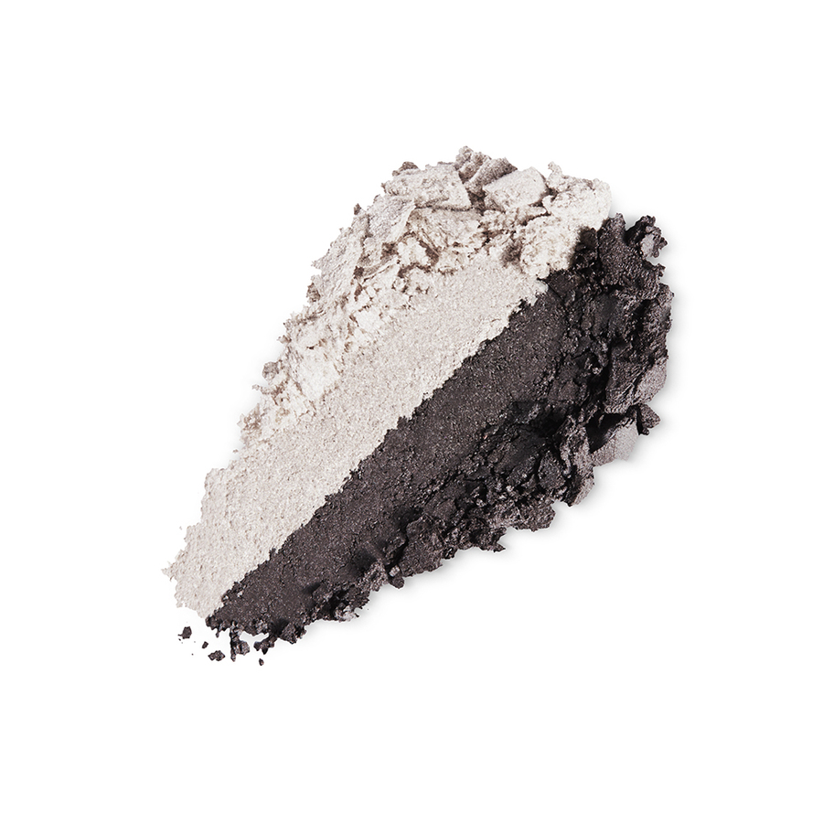 Купить Тени, Bright Duo Baked Eyeshadow, Kiko Milano, 22 Pearly White - Satin Graphite, KM0031300402244