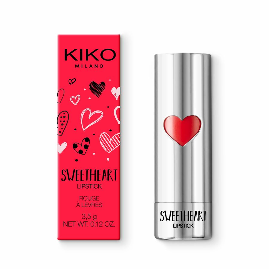 Купить Помада, SWEETHEART LIPSTICK, Kiko Milano, 04 First Red, KC130204069004A