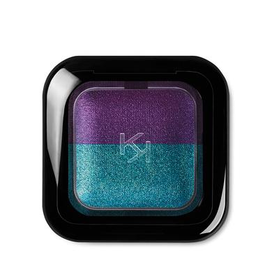 Купить Тени, Bright Duo Baked Eyeshadow, Kiko Milano, 09 Pearly Emerald - Metallic Violet, KM0031300400944