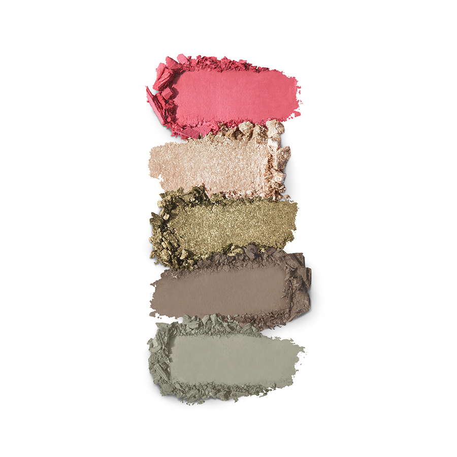 Купить Палитра для лица, Smart Eyes and Cheeks Palette, Kiko Milano, 02 Green Garden, KM0030900500244