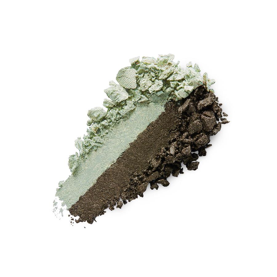 Купить Тени, Bright Duo Baked Eyeshadow, Kiko Milano, 04 Metallic Golden Green - Pearly Moss Green, KM0031300400444