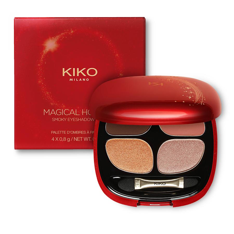 Купить Палитра для глаз, MAGICAL HOLIDAY SMOKY EYESHADOW QUAD, Kiko Milano, 02 Enchanting Shades, KC000000030002B