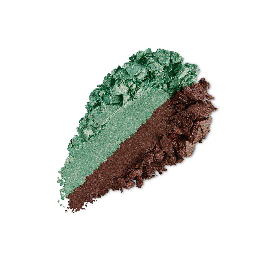 Купить Тени, Bright Duo Baked Eyeshadow, Kiko Milano, 07 Metallic Bamboo Green - Pearly Wood, KM0031300400744