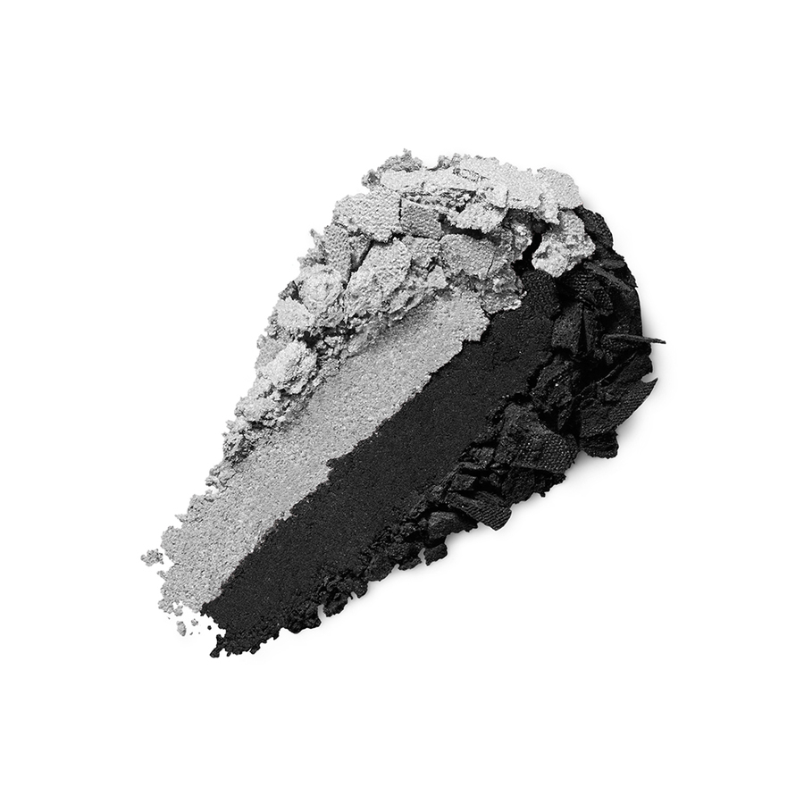 Купить Тени, Bright Duo Baked Eyeshadow, Kiko Milano, 24 Pearly Silver - Matte Black, KM0031300402444