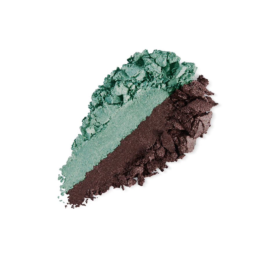 Купить Тени, Bright Duo Baked Eyeshadow, Kiko Milano, 21 Metallic Jade Green - Pearly Ash, KM0031300402144