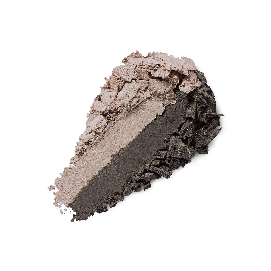 Купить Тени, Bright Duo Baked Eyeshadow, Kiko Milano, 17 Metallic Beige - Satin Ebony, KM0031300401744